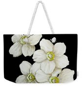 Decorative White Floral Flowers Art Original Chic Painting Madart Studios Weekender Tote Bag