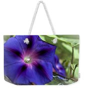Deep Blue Morning Glories Weekender Tote Bag