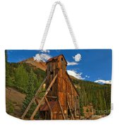 Deep Blue Over Historic Silver And Gold Weekender Tote Bag