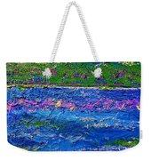 Deep Blue Texture Abstract Weekender Tote Bag