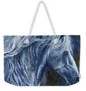 Deep Blue Wild Horse Weekender Tote Bag