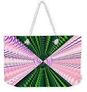 Deep Green And Pink Weekender Tote Bag