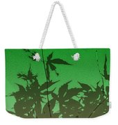 Deep Green Haiku Weekender Tote Bag