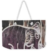 Deep Purple Elephant Painting In The Forest. Weekender Tote Bag
