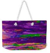Deep Purple Horizontal Weekender Tote Bag