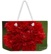 Deep Red Carnation 2 Weekender Tote Bag