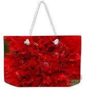 Deep Red Carnation Weekender Tote Bag