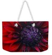 Deep Red To Purple Dahlia Flower Weekender Tote Bag