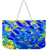 Deep Sea Fish And Diver Weekender Tote Bag