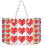 Deeply In Love Cherryhill Flower Petal Based Sweet Heart Pattern Colormania Graphics Weekender Tote Bag