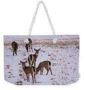 Deer At Dusk Weekender Tote Bag