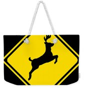 Deer Crossing Sign Weekender Tote Bag