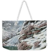 Deer In A Snowy Landscape Weekender Tote Bag