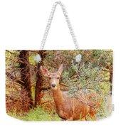 Deer In Forest Weekender Tote Bag