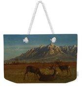 Deer In Mountain Home Weekender Tote Bag