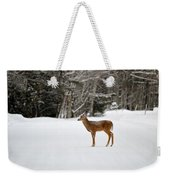 Deer In Road Weekender Tote Bag
