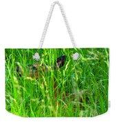 Deer In Tall Grass Weekender Tote Bag
