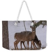 Deer In The Trees Weekender Tote Bag
