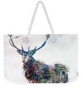 Deer In Watercolor Weekender Tote Bag