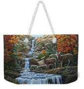 Deer Painting - Tranquil Deer Cove Weekender Tote Bag by Crista Forest