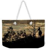 Deer Silhouette Weekender Tote Bag