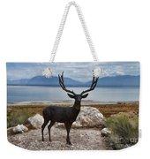 Deer Statute On Antelope Island  Weekender Tote Bag