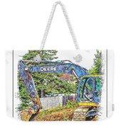Deere For Hire2 - Excavator - Digger Weekender Tote Bag