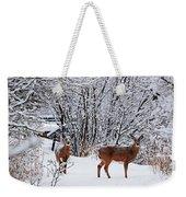 Deers In Winter Weekender Tote Bag