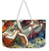 Degas' Four Dancers Up Close Weekender Tote Bag