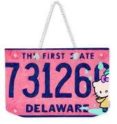 Delaware License Plate Weekender Tote Bag