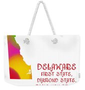 Delaware State Map Collection 2 Weekender Tote Bag