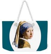Delft Blue Flip Side Weekender Tote Bag
