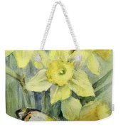 Delias Mysis Union Jack Butterfly On Daffodils Weekender Tote Bag