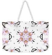 Delicate Cherry Blossom Fractal Kaleidoscope Weekender Tote Bag