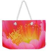 Delicate Pink Cactus Flower Weekender Tote Bag