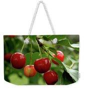 Delicious Cherries Weekender Tote Bag by Sandy Keeton