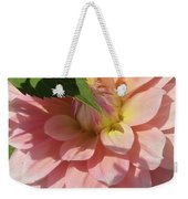 Delightful Smile Dahlia Flower Weekender Tote Bag