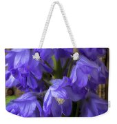 Delphinium And Butterfly Weekender Tote Bag