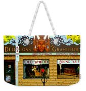 Delusions Of Grandeur Bank St Furniture Art Store On The Glebe Paintings Of Ottawa Scenes C Spandau Weekender Tote Bag