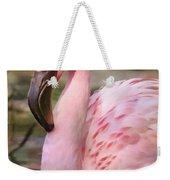 Demure Flamingo - Digital Art Weekender Tote Bag