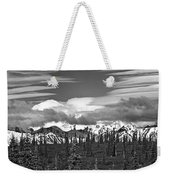 Denali In Clouds Weekender Tote Bag