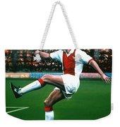 Dennis Bergkamp Ajax Weekender Tote Bag by Paul Meijering