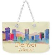 Denver Colorado Skyline II Weekender Tote Bag