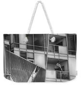 Denver Diagonal Lines Bw Weekender Tote Bag