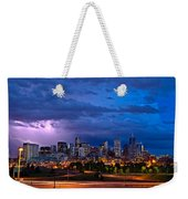 Denver Skyline Weekender Tote Bag by John K Sampson