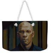 Denzel Washington In The Equalizer Painting Weekender Tote Bag