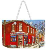 Depanneur Surplus De Pain Point St Charles Montreal Winterscene Paintings Cspandau Originals Prints  Weekender Tote Bag
