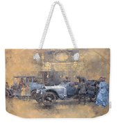 Departure For Christmas Oil On Canvas Weekender Tote Bag