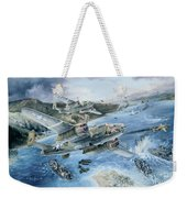Derailing The Tokyo Express Weekender Tote Bag by Randy Green