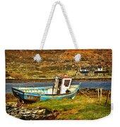 Derelict Fishing Boat On The Irish Coast Weekender Tote Bag